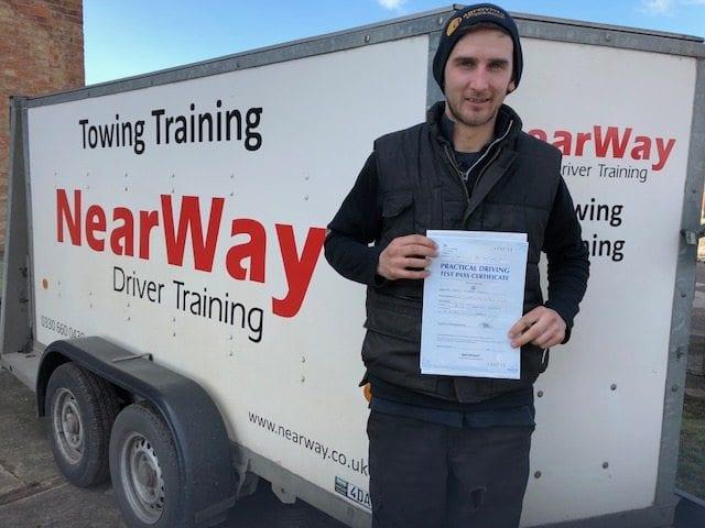 Calum Brown Towing Test Pass