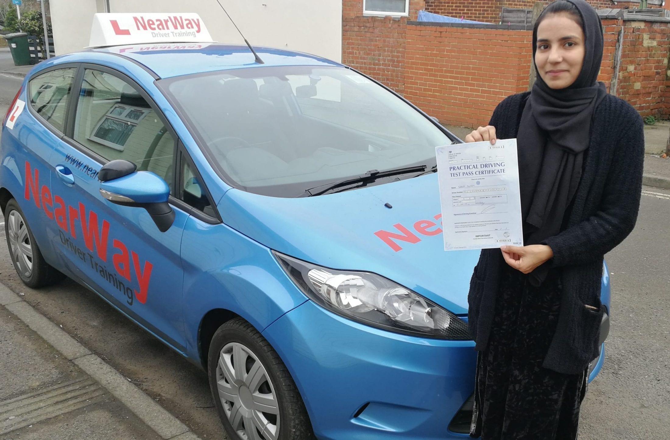 Sadia Aslam Driving Test