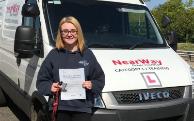 Eve Beharrell ambulance driving test.