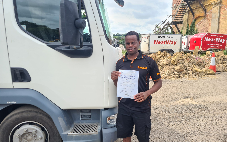 Charlie HGV Class 2 Test Pass Northamptonshire