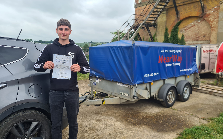 Jacob Grover B+E Test Pass Northamptonshire