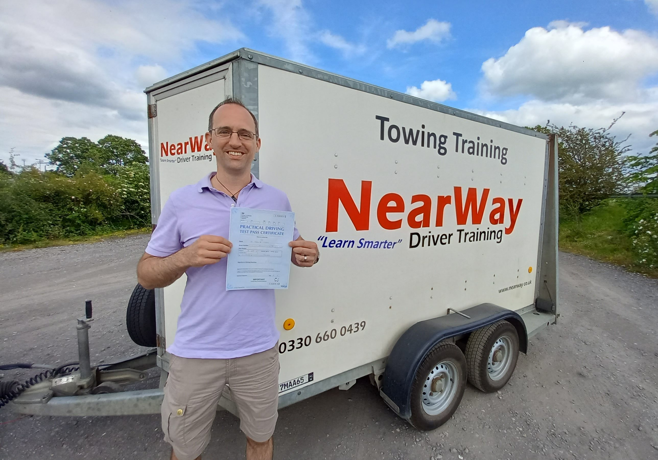 Karl Green Towing Test Pass Oxfordshire