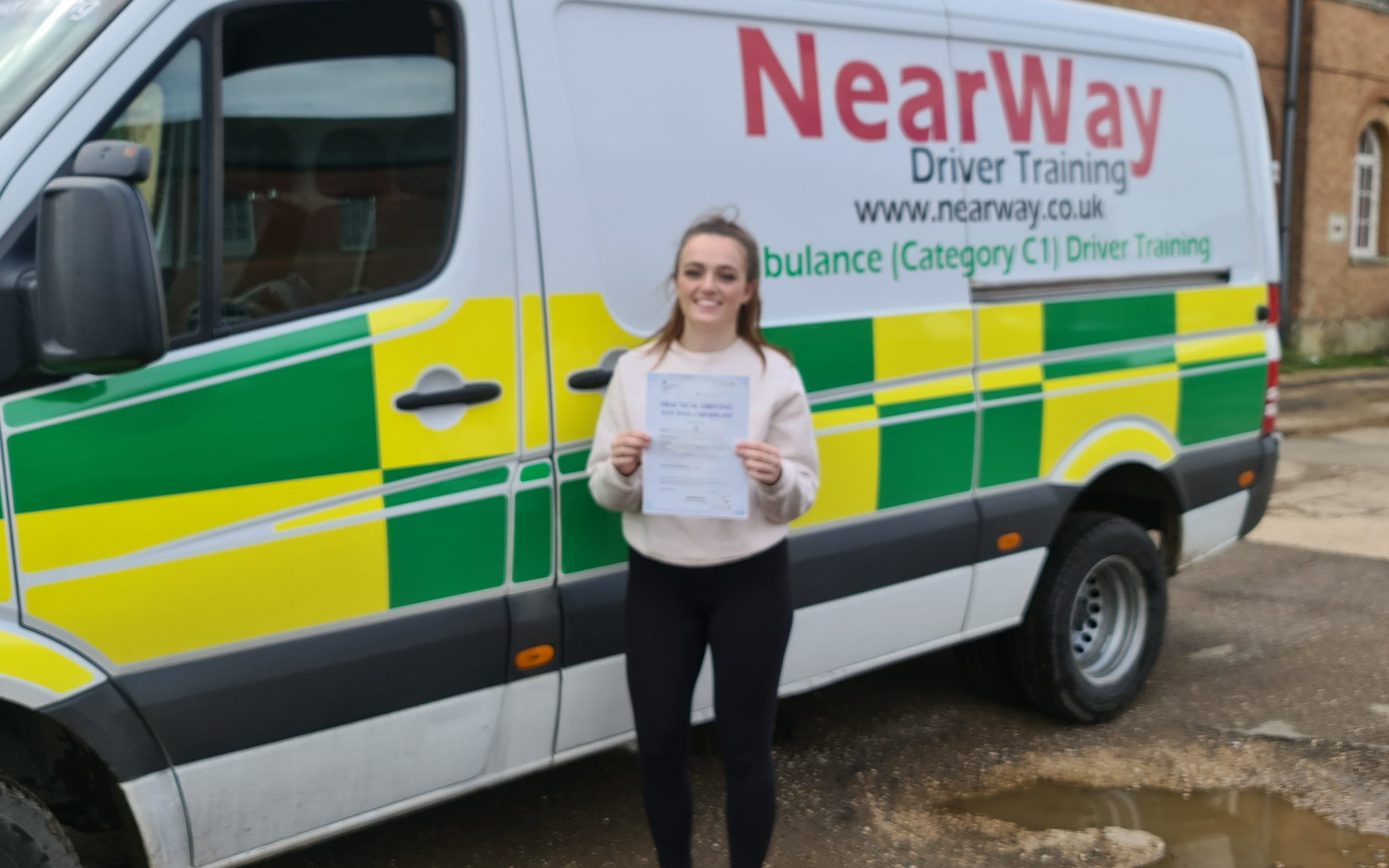 Lucy Knight C1 Test Pass Northamptonshire